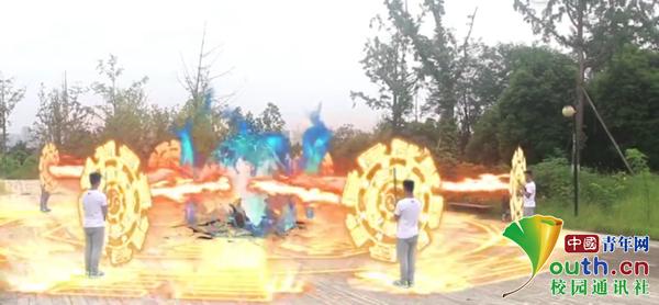 """攀枝花学院大学生自编自导自演自制的""""魔幻""""特效视频走红网络"""