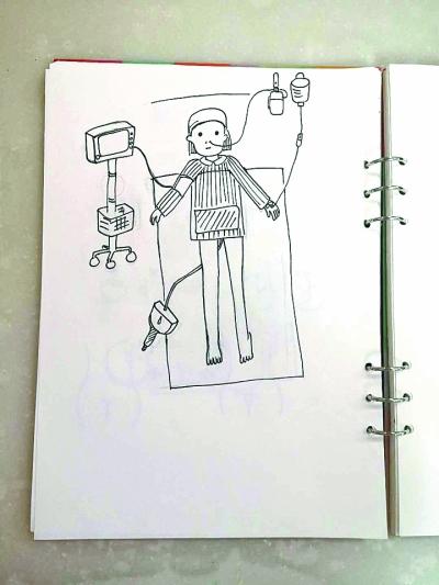 90后小护手绘暖心护理图