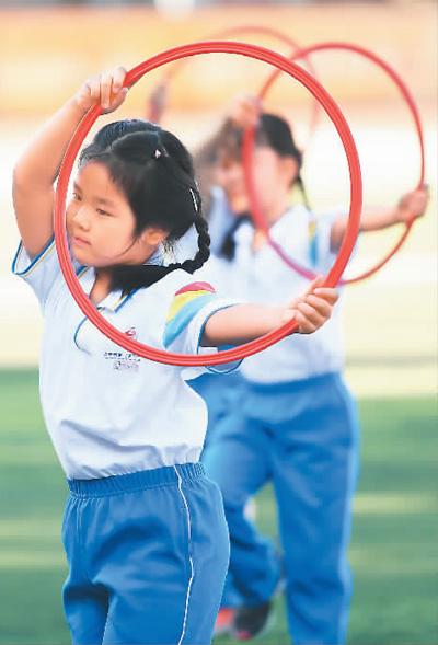 开学季 运动健身成为青少年的热