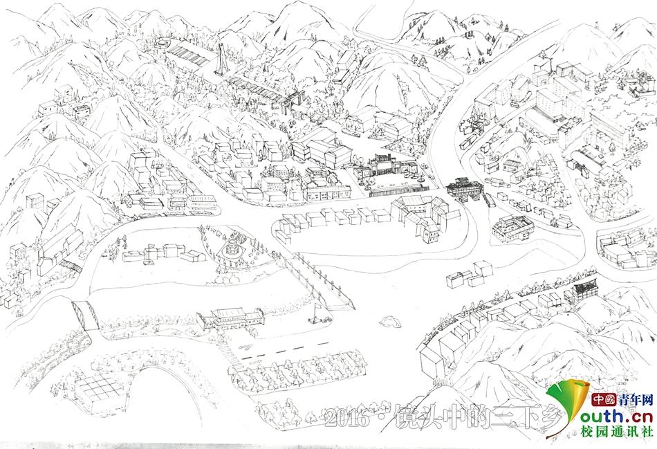 """吉首大学助力红色旅游 学生手绘地图践行""""精准扶贫"""""""
