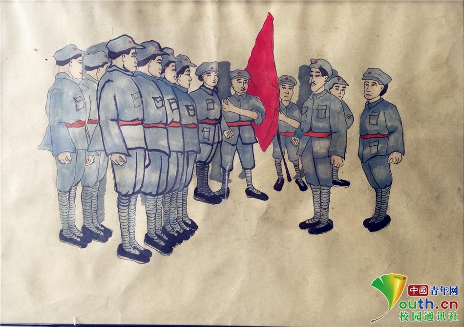 福建大学生讲述长征漫画主题手绘题材故事日本战国漫画红色图片