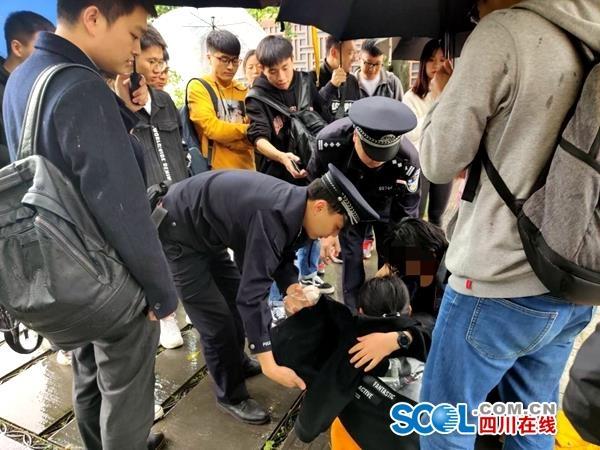 """西南交大學生緊急救起落水女子:""""我不救誰救?"""""""